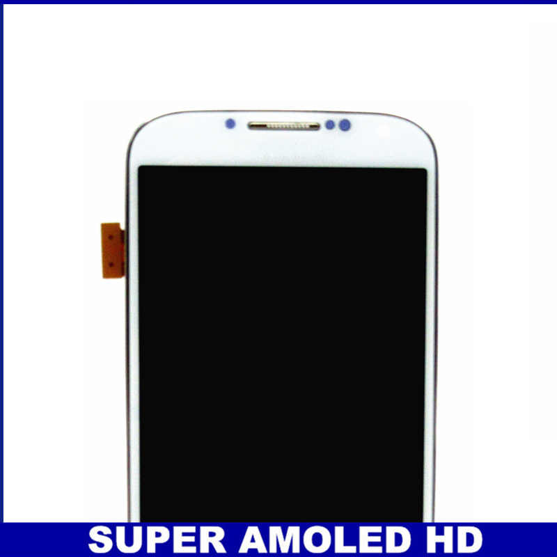 لسامسونج غالاكسي S4 i9505 AMOLED شاشة الكريستال السائل مجموعة المحولات الرقمية لشاشة تعمل بلمس مع الإطار مدي شاشات Lcd استبدال الزجاج المقسى