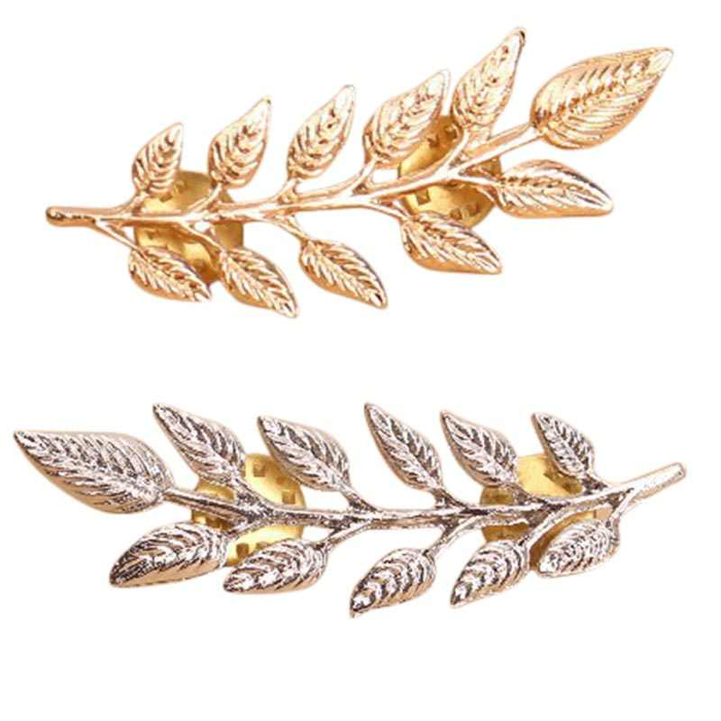 1 pair Vintage Brooch Leaf Shape alloy Collar Skirt Pins Clip riverdale Cosy Accessories overwatch simpsons Clothes decoration