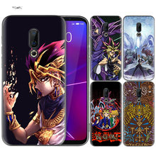Silicone Case for Meizu 16 16th M6T Black Dark Coque Shell Cell Phone Tpu Cover Dull Polish Yu GI OH(China)