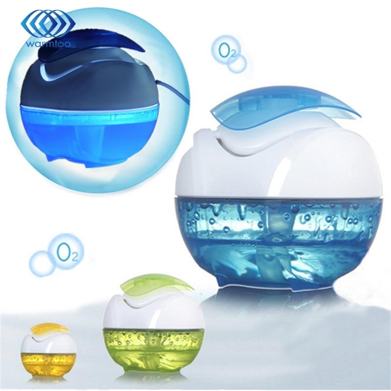 Home Mini Portable Anion Humidifier Fresh Air Purifier Ball Shape Oxygen Bar DC5V 1W USB LED Night Light Air Purifier