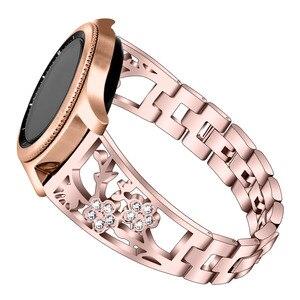 Image 3 - 20mm 22mm Diamant Metalen Band Voor Samsung Gear Sport S2 S3 Galaxy Horloge 42mm 46mm Actieve band Voor Amazfit Bip Huawei GT 2 Pro