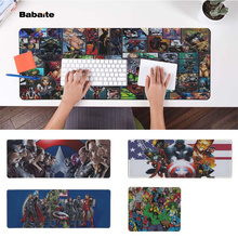 Babaite New Design Comic Heroes Office Mice Gamer Soft Mouse Pad Free Shipping Large Keyboards Mat