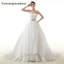 Forevergracedress Ball Gown Sleeveless Wedding Dress Sweetheart Neckline Beaded Crystals Long Bridal Gown Plus Size Custom Made