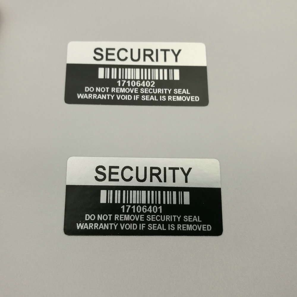 Image 3 - 1000 pieces Silver Color VOID Security Labels Removed Tamper Evident Warranty Sealing Sticker With Serial Number And Barcode-in Stationery Stickers from Office & School Supplies