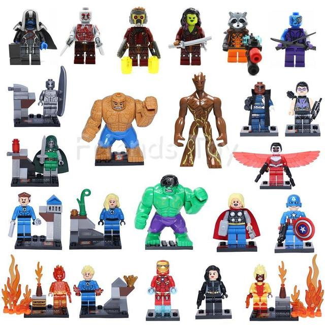 23pcs Marvel Super Heroes Assemble Avengers Fantastic 4