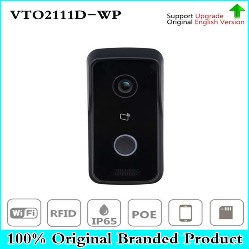 DH VTO2111D-WP DC12V POE WIFI IP Metal Villa Outdoor Station Intercom Video Door Phone DH P2P Metal Villa Outdoor Station dh vto2000a 1 3mp video door phone poe p2p metal villa outdoor station remote intercom night vision with logo dh vto2000a