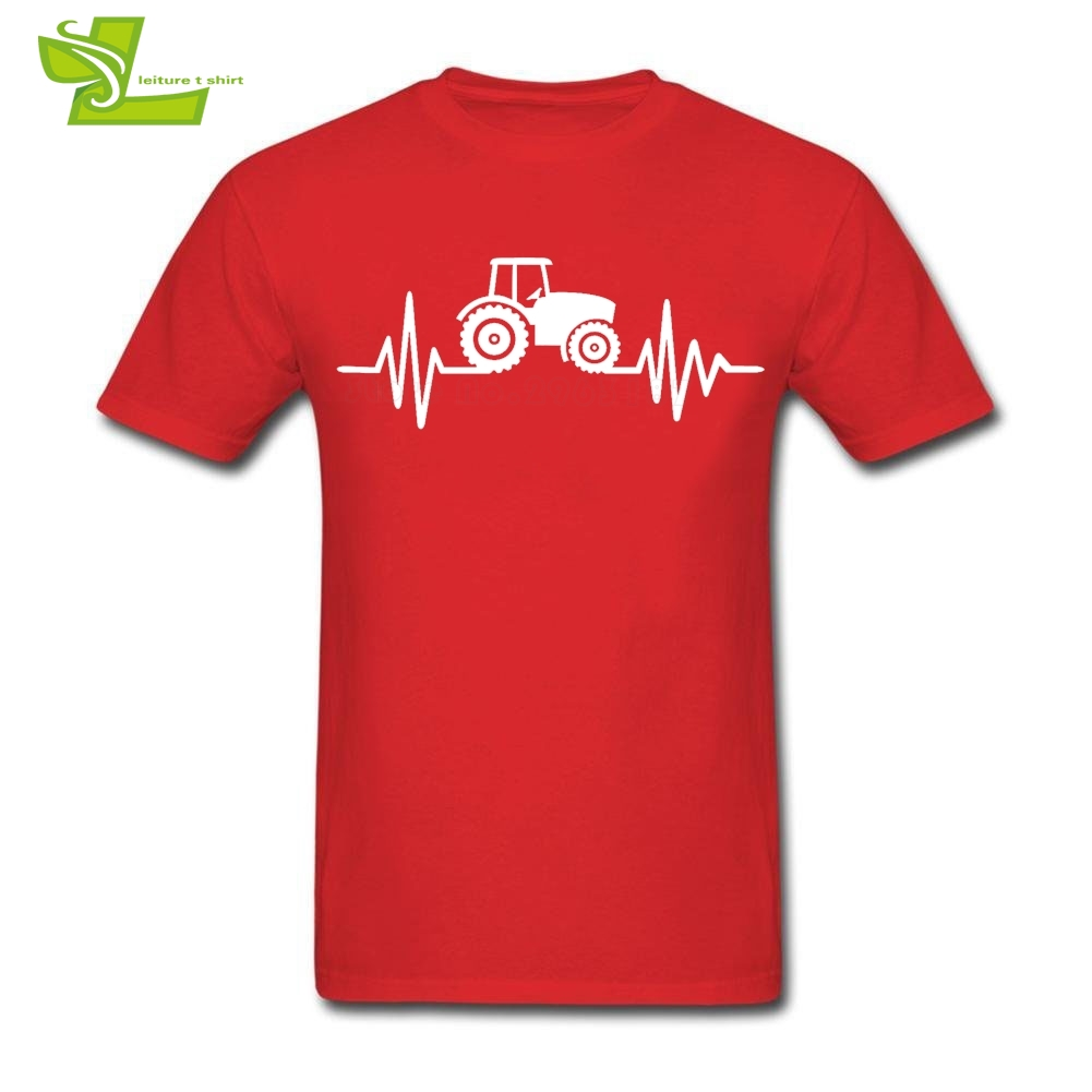 Tractor T Shirt Mens Short Sleeve Round Neck Tee Male Latest Big Tops Popular Exercise Comfortable Teenboys Tee Shirts Farmer