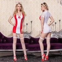 Neue Porn Frauen Dessous Und Exotischen Hot Sexy Krankenschwester Kostüm Aushöhlen Krankenschwester Cosplay Teddy Sexy einheitlichen Milch Silk Erotische Dessous