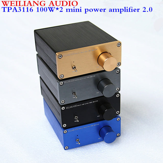 WEILIANG AUDIO TPA3116 2.0 class D mini digital power amplifier maximum output power 100W*2
