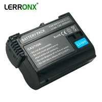 LERRONX EN-EL15 ENEL15 batería digital recargable en-el15a EN EL15 batería de cámara de 2550mAh para Nikon D500 D750 D7100 D7000