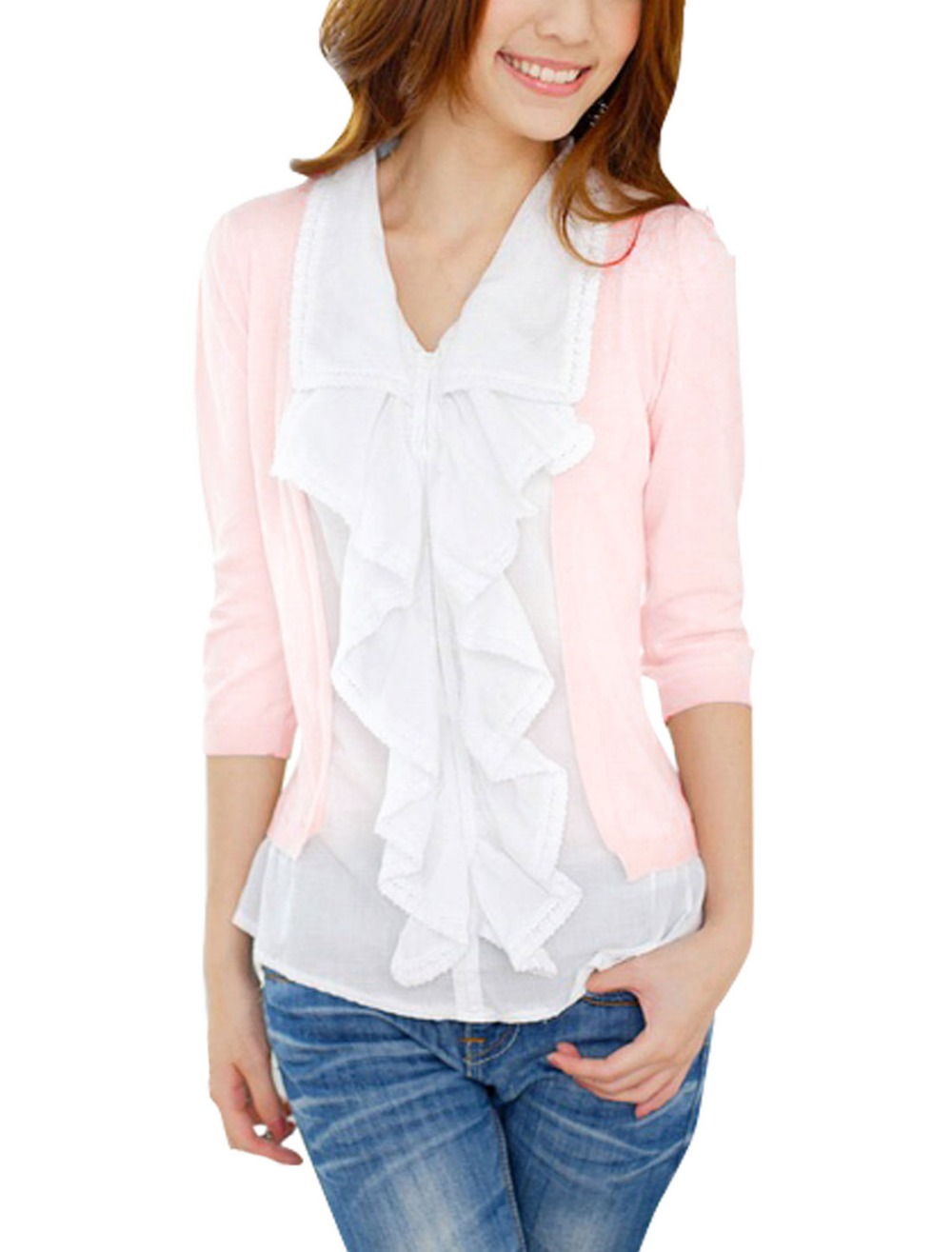 Compare Prices on Ruffle Front Blouse- Online Shopping/Buy Low ...