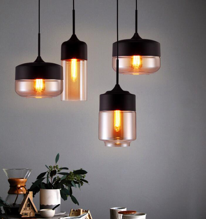 Hot Selling Modern Smoked Glass Pendant Light Dining Room Restaurant Bed Room Indoor Lighting