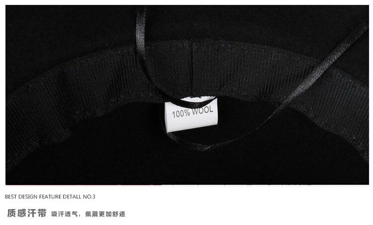 22105a8aeb546 YIFEI Women 100% Wool Felt Hats 1920s Vintage flower Bucket hats Elegant  Fashion classic chapeau veil Formal hat