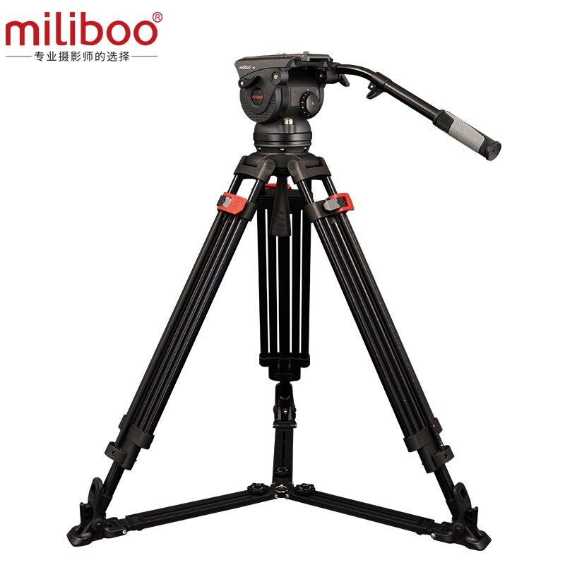 Miliboo M8DL/M8DT Alumínio câmara de vídeo profissional Tripé De fibra de Carbono melhor do que Manfrotto