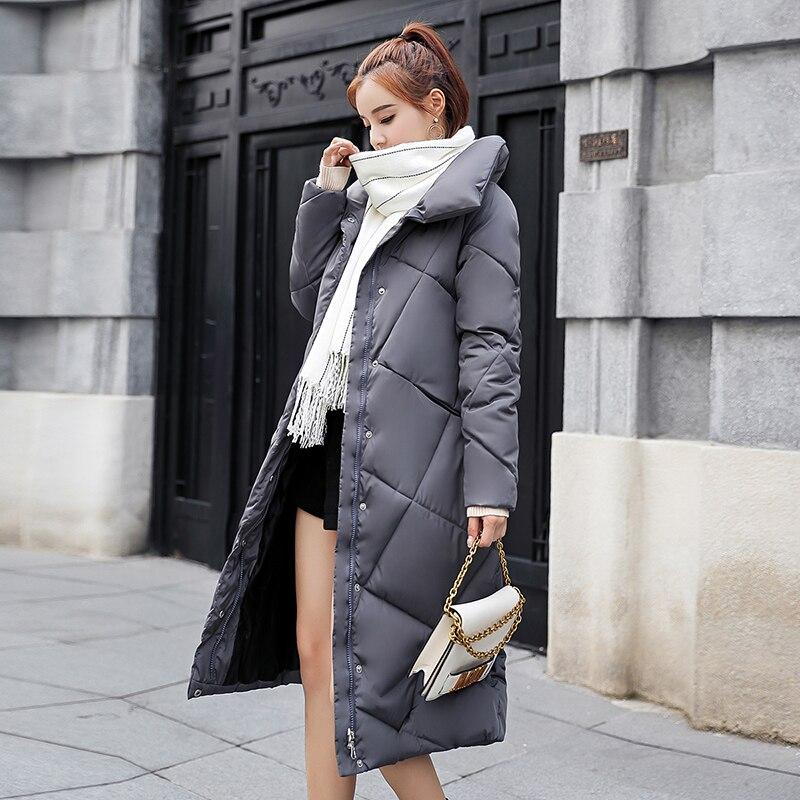 Coton Bleu army Green Slim Veste Outwear Dames Femmes Manteaux Hiver Collier marine Vestes Plus Manteau Beige Vintage rouge Stand De D'hiver Femelle camel noir gris La Taille O4Pqw1f