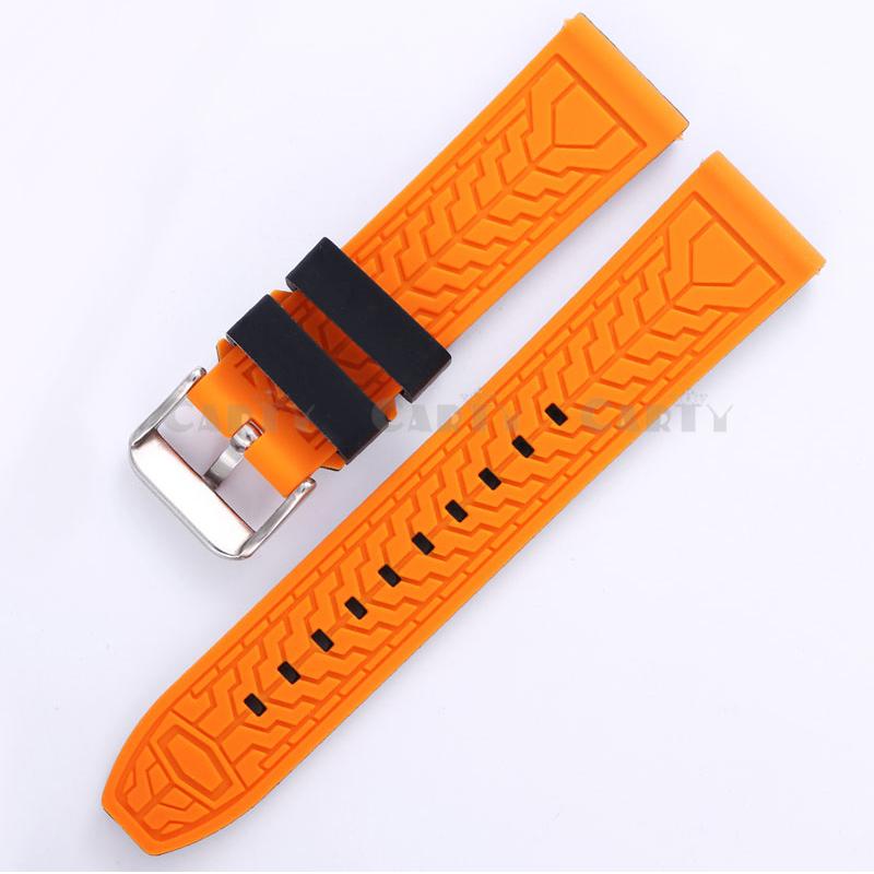 мягкий силиконовый ремешок 20 мм 22 мм 24 мм 26 мм резиновый ремешок водонепроницаемый ремешок для часов