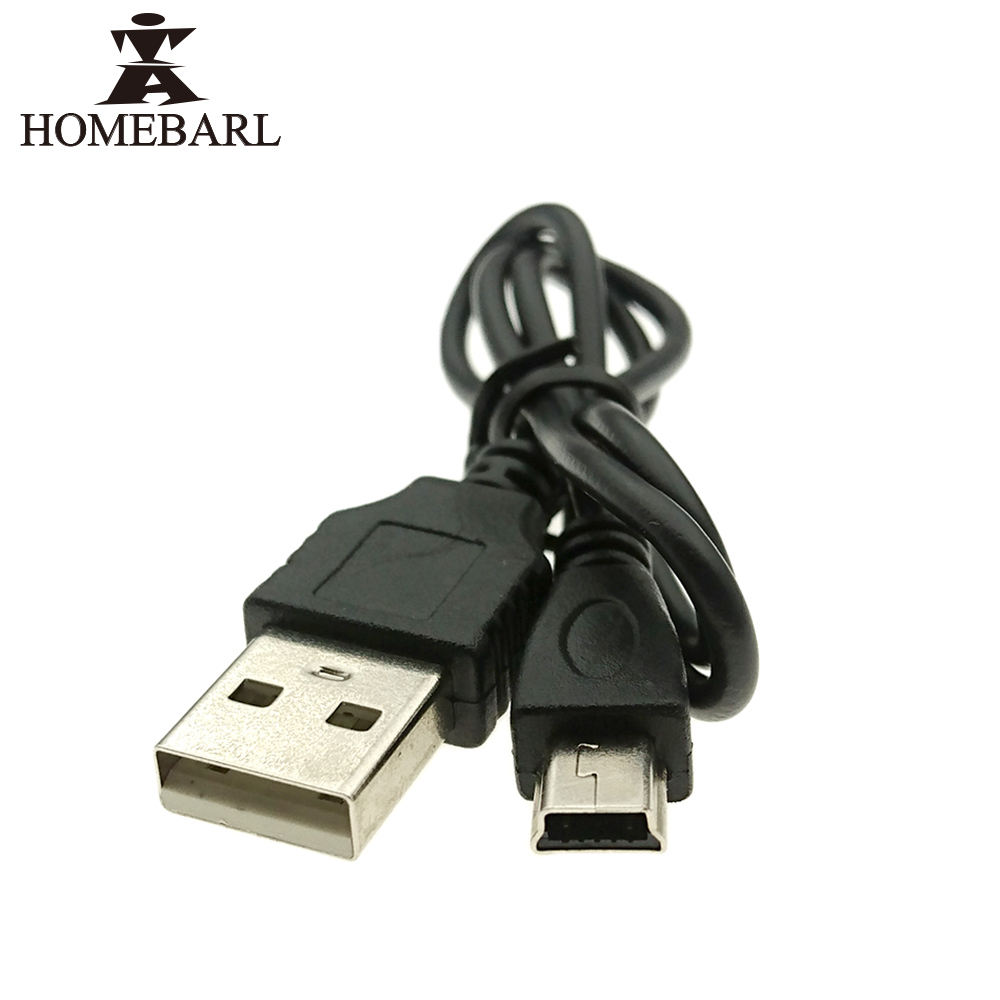 HOMEBARL Data Sync Flat Mini USB A Male To Mini 5 Pins B Charger V3 USB Cable For MP3 MP4 MP5 Player Camera Radio Bluetooth DVD spring coiled usb 2 0 male to mini usb 5 pin data sync charger cable