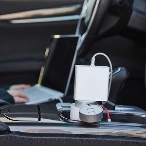 Image 4 - Original Xiaomi Mijia 100W Portable Car Power Inverter Converter DC 12V to AC 220V with 5V/2.4A Dual USB Ports Car Charger