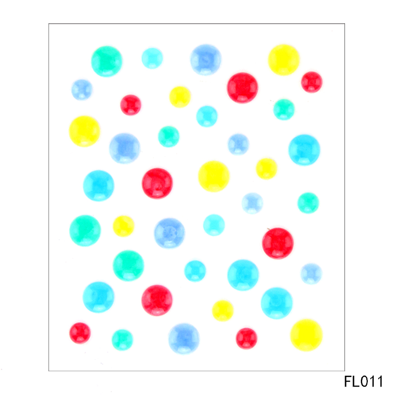 Zhuoang Sugar Sprinkles Self adhesive Enamel Dots Resin Sticker for Scrapbooking DIY Crafts Card Making Decoration FL 011 in Embellishments from Home Garden