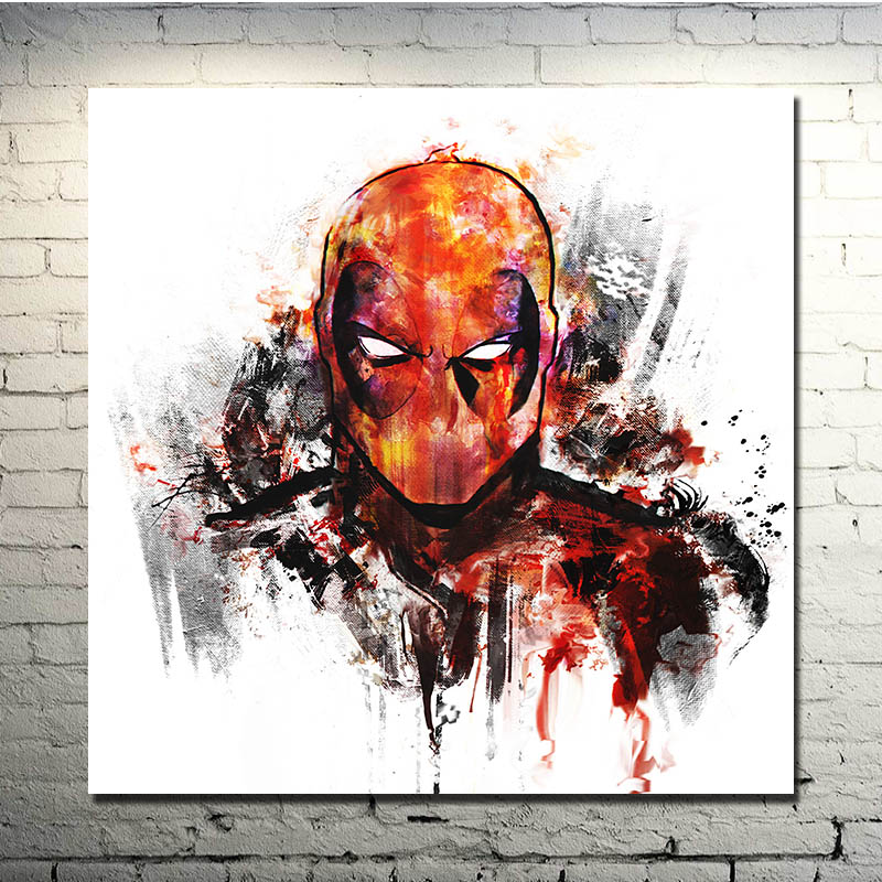 Deadpool Movie Art Silk Fabric Poster 13x24 24x36inches Wade Wilson 016