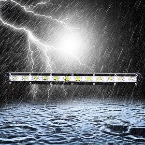 Image 1 - 13 Cal 36W oświetlenie dachowe Combo Flood Spot Beam praca przednie światła 6000K światło robocze Cob Led Bar 12v dekoracja samochodu światło