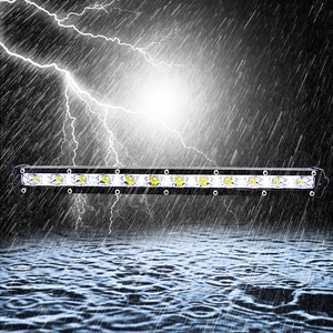 Image 1 - 13 Inch 36W Roof Light Bar Combo Flood Spot Beam Work Front Lights 6000K Cob Led Work Light Bar 12v Car Decoration Light