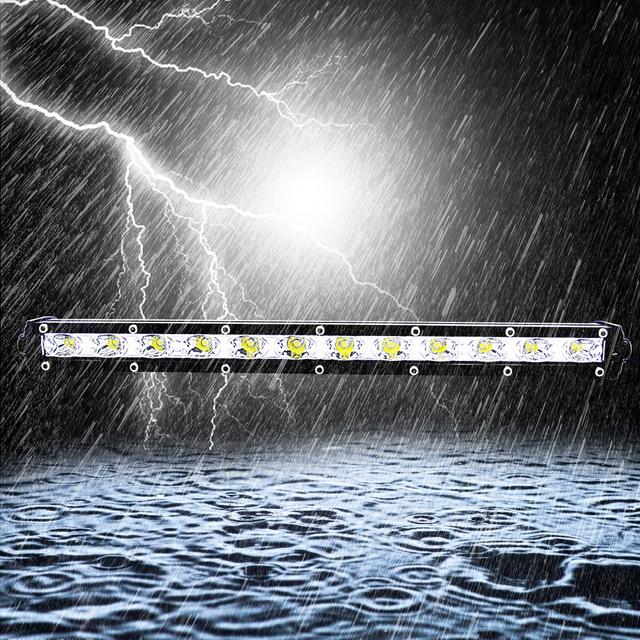 13 Inch 36W Roof Light Bar Combo Flood Spot Beam Work Front Lights 6000K Cob Led Work Light Bar 12v Car Decoration Light