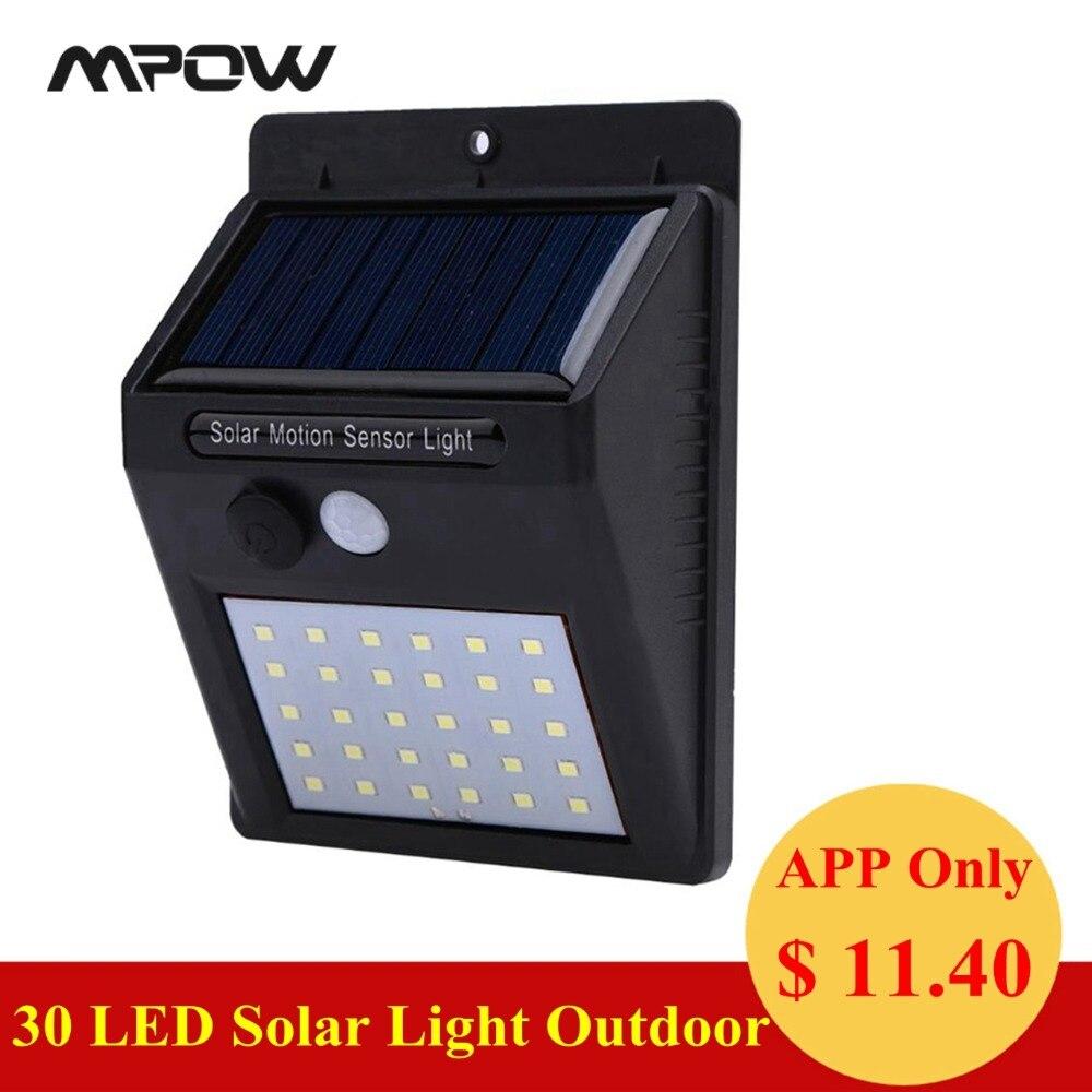 IP65 impermeable de energía Solar 30 LED Solar Powered luces al aire libre de 120 grados Sensor de ángulo de jardín garaje Patio