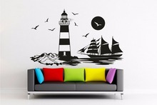 New arrival Wall Decal Lighthouse Maritime countryside Skyline North Sea Sticker, Decal,Wall art/ living room