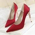 2017 Летняя Мода Обувь Женщина На Высоких Каблуках Насосы Высокие Каблуки 10 СМ Женская Обувь Высокие Каблуки Свадебная Обувь 3 цвета