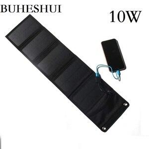 Image 1 - BUHESHUI 10 W 5 V חיצוני פנל סולארי מטען/iphone/טלפון נייד/כוח בנק 8 W 6 W שמש סוללה מטען משלוח חינם