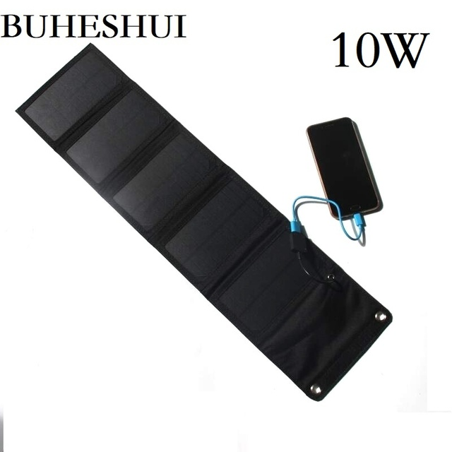 BUHESHUI 10 W 5 V חיצוני פנל סולארי מטען/iphone/טלפון נייד/כוח בנק 8 W 6 W שמש סוללה מטען משלוח חינם