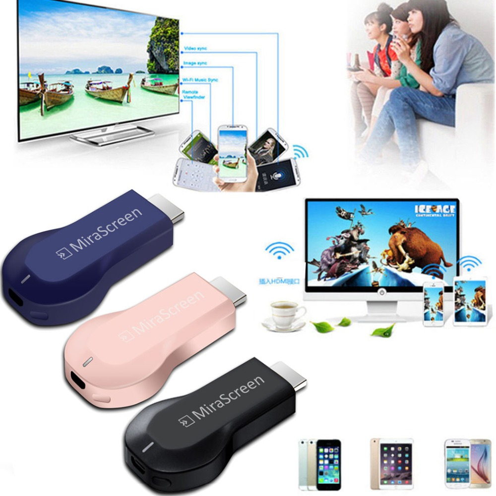 MiraScreen OTA TV Stick HD Wireless Wifi Display Dongle Video Adapter DLNA Airplay Miracast Smart iOS Android Phone to TV HDTV