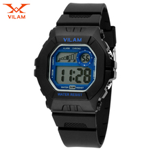 VILAM LED Digital Watches Women Sports Watches Cartoon Watch for Girls boys PU Strap Children's LED Wristwatches Reloj