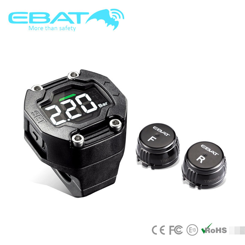 Ai Car Fun DIY TP-90 TPMS Motorcycle Tire Pressure Monitor System Waterproof 2 External Sensor Wireless LCD Display clear fit econom et 16 ai lcd