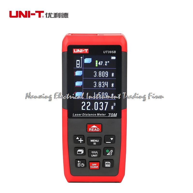 Laser Distance Meters UNI-T UT395B 70M Laser Range finder Digital range finder Measure Area/volume Tool laser range finder 40m 60m 80m 100m digital laser distance meter tape area volume angle engineer measure construction tools