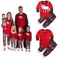 Trajes de navidad Los Niños Traje Del Chándal de Algodón de manga larga Casual Sistemas de la Ropa de Dormir Del Bebé Niños ropa de Noche regalos de Año Nuevo