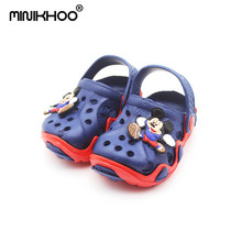 Mini Melissa New Cartoon Children Garden Sandals 2018 Fashion EVA Girl Boy Sandals Mickey Unisex Beach Sandals High Quality(China)