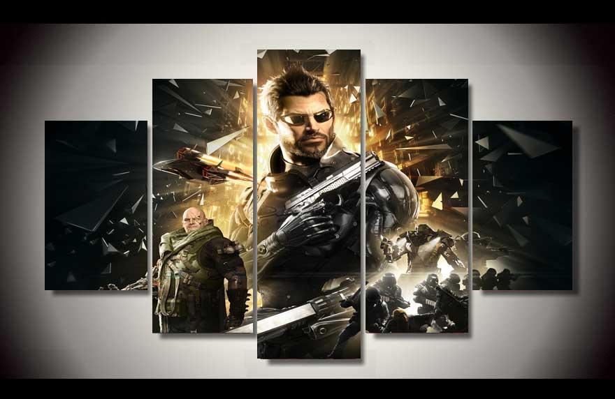 2017 Deus Ex Mankind Divided Адам картина стены Книги по искусству Детская комната Декор холст Модульная картина