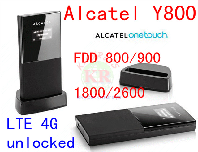 Original Unlock 100Mbps Alcatel One Touch Y800 4G LTE FDD Wireless Router 3G 4G Mobile WiFi Hotspot alcatel one touch 4g router y859nc