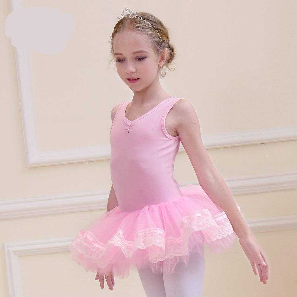 Gimnasia vestido Ballet muchacha Ballet Dancer traje rosa azul ...