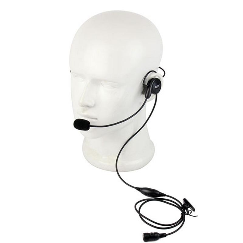 Advanced Unilateral Headphone Mic Neckband Earpiece Cycling Field Tactical Headset For Motorola Icom Yaesu Midland Radio