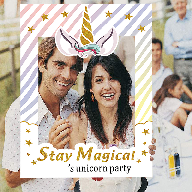 Unicorn Party Supplies Inflatable Selfie Frame Birthday Baby Shower As Shown M