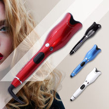 2019 Automatic Hair Curler Wand Curl 1 Inch Rotating Spin Ceramic Salon Hair Styling Tools  Magic Roller Curling Iron Dropship ckeyin led hair curler styler diy hair styling tools automatic hair curl magic hair curler curling wand 1pcs heat resistant mat