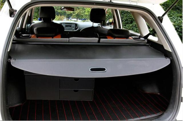 Car Rear Trunk Security Shield Shade Cargo Cover For Honda Fit Jazz 2008 2017 Black Beige