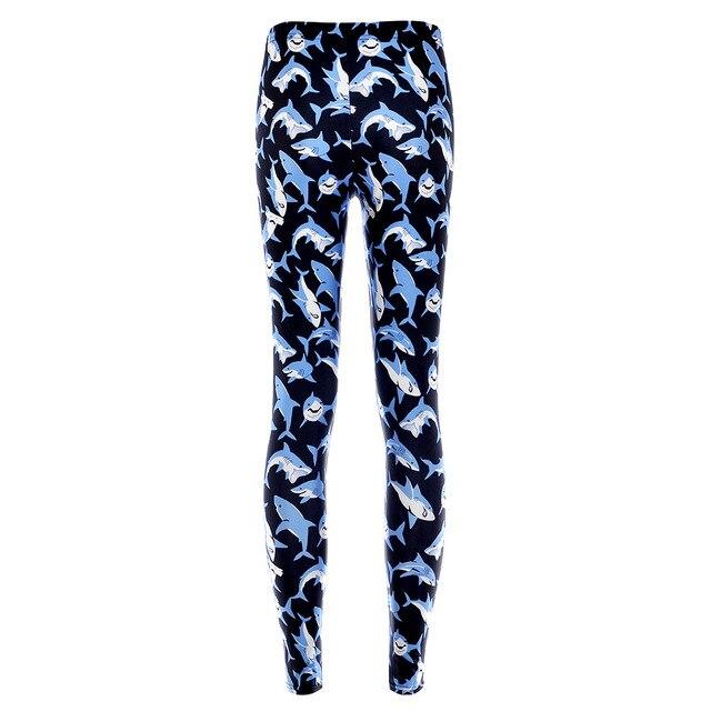 High waisted cartoon whale leggings for women plus size Hot Digital Print Pants New Fitness leggins [ LGF191]