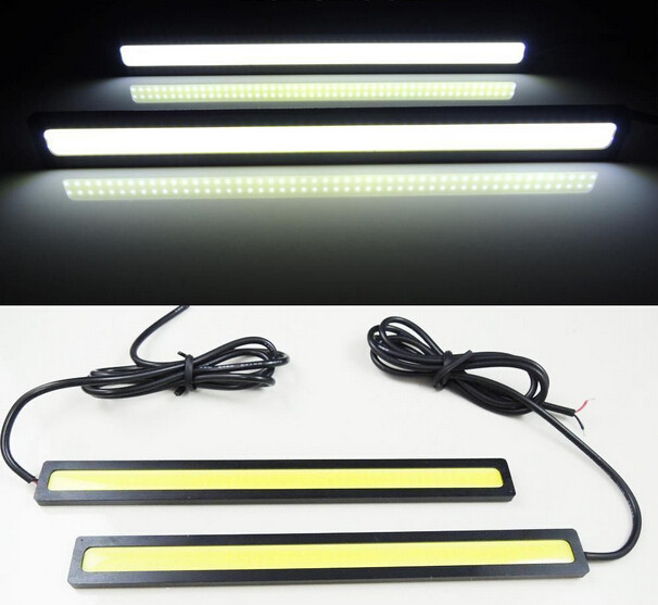 1Pcs Car styling Ultra Bright 12W LED Daytime Running lights DC 12V 17cm 100% Waterproof Auto Car DRL COB Driving Fog lamp suprer bright 2pcs 30cm 12v daytime running lights waterproof car drl cob driving fog lamp flexible led strip car styling