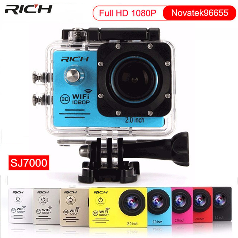 Free DHL Shipping Action Camera Full HD 1080P 30FPS WIFI 12MP Novatek96655 Wideangle Diving 30M Waterproof Extreme Sport Camera
