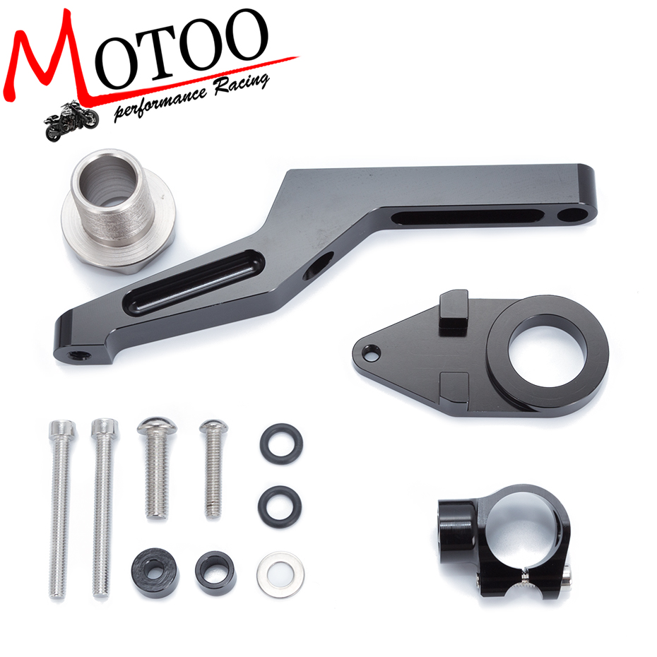 For KAWASAKI ZX6R ZX-6R 2009-2016 Motorcycles Adjustable Steering Stabilize Damper Bracket Mount Support Kit Accessories motoo free shipping for kawasaki zx6r 2005 2006 zx 6r motorcycle aluminium steering stabilizer damper mounting bracket kit