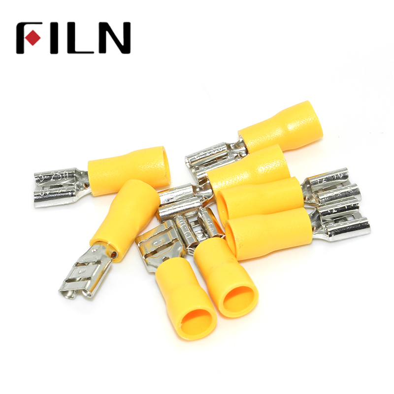 100pc awg 12 10 insulated female terminals crimp connector